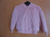 Gorgeous Girls Pink Furry Zip front Hooded Jacket, BNWT George, age 4-5