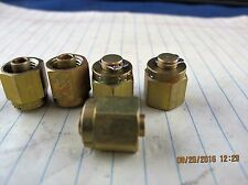 "Lot of (5) ¼"" Brass Plug Cap B-400-P Swagelok Plug Cap Tube Fitting [B7S2]"