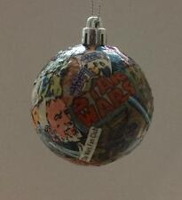 Decoupaged Star Wars comic Christmas tree baubles Each hand crafted & different.