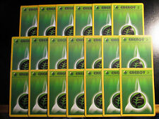 20x Pokemon GRASS ENERGY Card Old Gen Style Set DECK Building/Play Plant Green