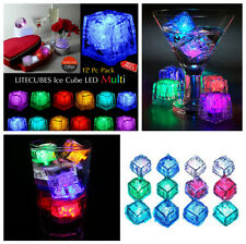 12x Water Submersible Flashing LED Ice Cubes Flashing Multi-Color Light Rocks