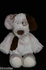 "Mary Meyer 13"" Super Soft Puppy Dog Plush Toy Doll w/ Brown Ears, Brown Spot"