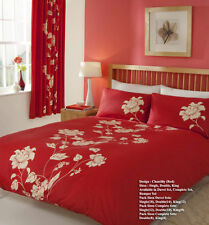 Chantilly Printed Duvet Quilt cover set,or With Fitted Sheet or full set
