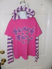 MINI BODEN BEACH PARTY LONG SLEEVE HOODIE SHIRT SIZE 11/12Y EUC NO MARKS