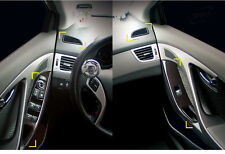 New Luxury Carbon Interior Cover Garnish Molding Trim for Hyundai Elantra 11-13