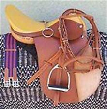 "19"" NEW LEATHER CAMBRIDGE ENGLISH JUMP ALL PURPOSE SADDLE PACKAGE TAN"
