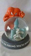 Warner Brothers 1996 Gossamer And Bugs Bunny  Snow Globe G74