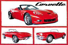 AUTOMOBILE POSTER Fabulous Corvettes 36x24
