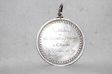 1852 FRENCH SILVER REWARD OF MERIT MEDAL - STRUCK & HAND ENGRAVED -FOR NARRATION