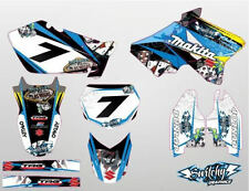 KIT ADESIVI GRAFICHE GAMBLING BLACK SUZUKI RM 125 250 2002 - 2008 DEKOR DECALS