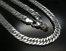 Classic style Cool Men's 925 Sterling Silver 7mm wide Necklace 20 inch 50cm M6