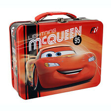 Disney CARS LIGHTNING MCQUEEN  95 FORMULA RACER Tin Lunch Box CARRY ALL Case Bag
