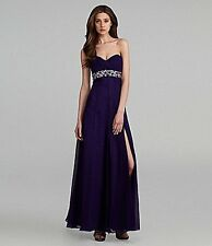 JS Collections Strapless Beaded Gown (Size 4)