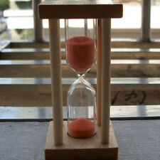 Wooden Hourglass Sandglass Sand Clock Timer for Kids Brushing 5 minutes IY