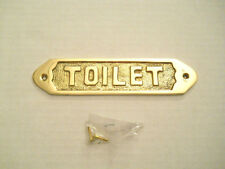 Solid Brass Toilet Door Sign Or Decorative Plaque Wall Hanging New