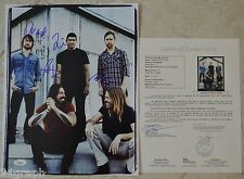 "Foo Fighters Signed 11x14 (ALL 5!) w/ ""Full Letter"" JSA LOA #Y50846 Dave Grohl"