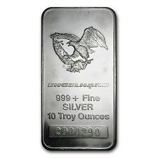 10 oz Engelhard Silver Bar - Eagle Design - SKU #62743