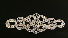 """UK SELLER High quality Rhinestone crystal applique trimming size 8"""" x 2.75"""" new"""