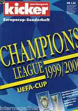 Magazin kicker Sonderheft - Europacup,Champions League 1999/2000.99/00,