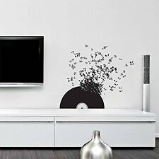 Wall Decal Vinyl Sticker Vinyl Record Music Songs Sound Notes Melody r279