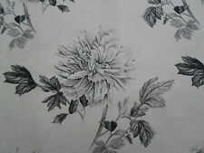 "Designers Guild Tela ~' Hiyoku "" 3.1 Metros Grafito De Lino Mezcla ~ ¡ Kaori Tejidos"
