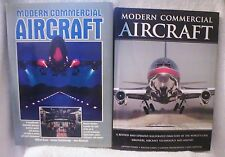 2 MODERN COMMERCIAL AIRCRAFT BOOKS - 1987 & 2003 - HARDCOVER - NICE