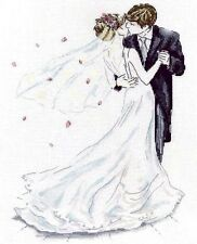 "Design Works Counted Cross Stitch Kit 10"" x 14"" ~ WEDDING COUPLE #2844 Sale"