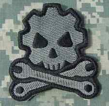 DEATH MECHANIC ARMY MORALE TACTICAL MILITARY BADGE US ISAF ACU DARK VELCRO PATCH