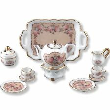 DOLLHOUSE Tea Set /2 Reutter Porcelain Classic Rose 1.347/8 Miniature NRFB