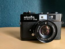 Minolta Hi-Matic 7sII 35mm Rangefinder Film Camera in Black