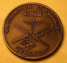 4th Squadron 17th Cavalry Armerd Recon Desert Storm Army Navy Challenge Coin