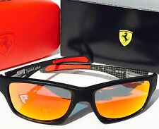 NEW* Oakley Jupiter Squared FERRARI Black Carbon POLARIZED Ruby IRIDIUM 9220-06