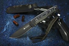 Russian Hunting knife Santi D2 Black. KIZLYAR SUPREME.