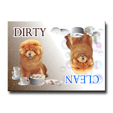 Chow Chow Clean/Dirty Dishwasher Magnet Must See Dog