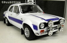Triple9 1/18 Scale - Ford Escort MK1 RS2000 White Blue diecast model car