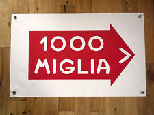MILLE MIGLIA 1000 Direction Style Weatherproof Rally Art Banner Workshop Garage