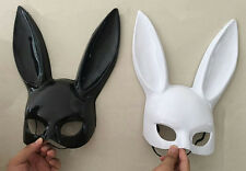 NEW Bunny Mask Adult Masquerade Rabbit Halloween Fancy Dress BUY ONE GET ONE
