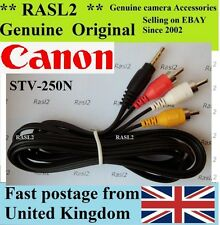 Genuine Canon AV Stereo Cable STV-250n  EOS 5D Mark II DC210 DC 230 320 DVD 220
