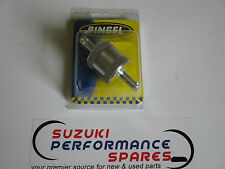 "Suzuki Pingel Billet Fuel Filter. single in single out. 5/16"" cleanable element."