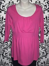 Old Navy Maternity Casual Solid Bright Pink 3/4 Sleeve Top Size Medium EUC