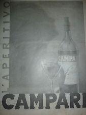 ADVERTISING PUBBLICITA' L'APERITIVO CAMPARI -- 1938