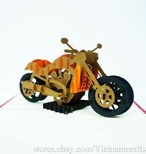 3D Harley Davidson Motor Pop up Greeting Cards, Free Shipping!