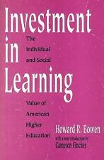 Investment in Learning: The Individual and Social Value of American Hi-ExLibrary