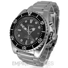 *NEW* SEIKO KINETIC DIVERS 200M BLACK STEEL WATCH SKA371P1 - RRP £325