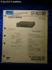 Sony Service Manual ST H3700 FM/AM Tuner (#6737)