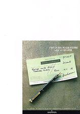 PUBLICITE  1988   SHEAFFER    stylo plume garanti à vie
