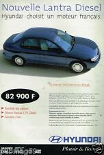 Publicité advertising 1997 Nouvelle Lantra Diesel Hyundai Berline ou Break
