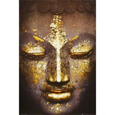 Buddha Golden Face Inspirational Poster Art Print 24x36 inch