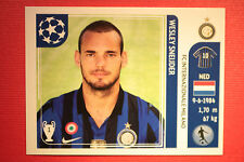 PANINI CHAMPIONS LEAGUE 2011/12 N 85 SNEIJDER INTER WITH BLACK BACK MINT!!