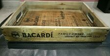 BACARDI VINTAGE WOODEN TRAY/WALL ART BRAND NEW PUB/BAR/MANCAVE